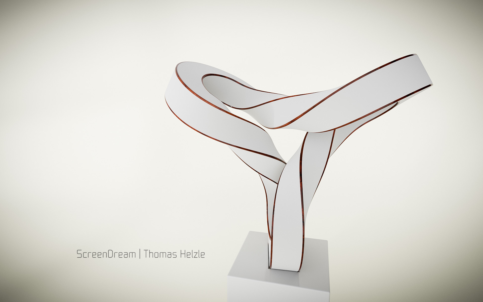 Volker Regenstein: Sculpture White & Burlwood