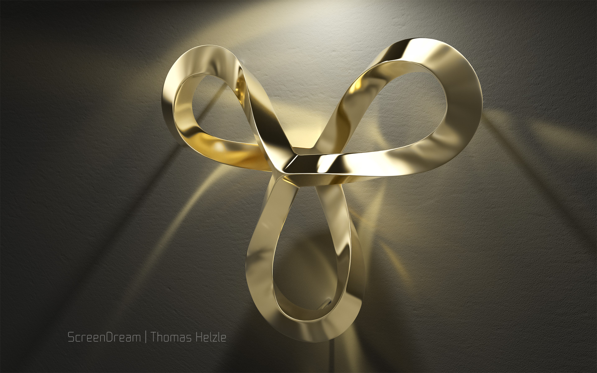 Volker Regenstein: Sculpture Gold Caustics